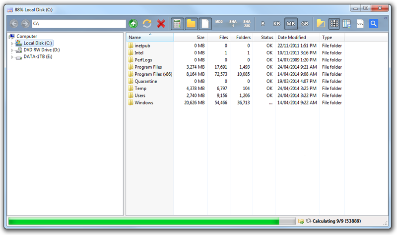 Folder Sizes in Explorer Windows 7