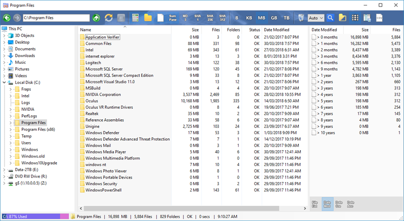 Folder Size Explorer - Simple Windows Explorer with folder